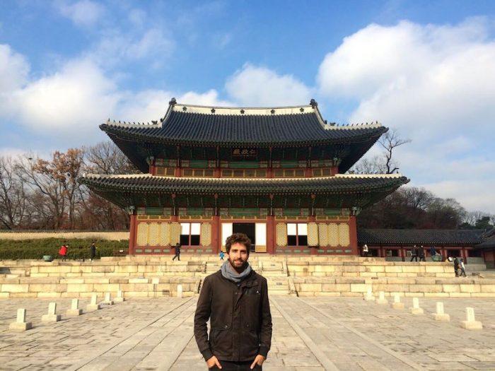 En uno de los muchos palacios de Seúl, Corea del Sur.