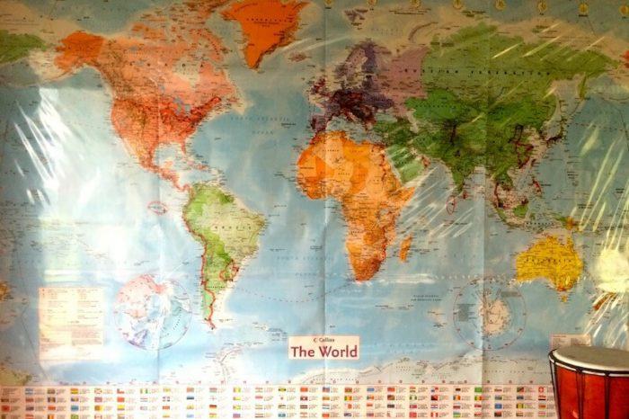 Mapa de los viajes de Halim.