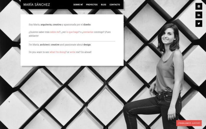 Imagen de la página web de María Sajim