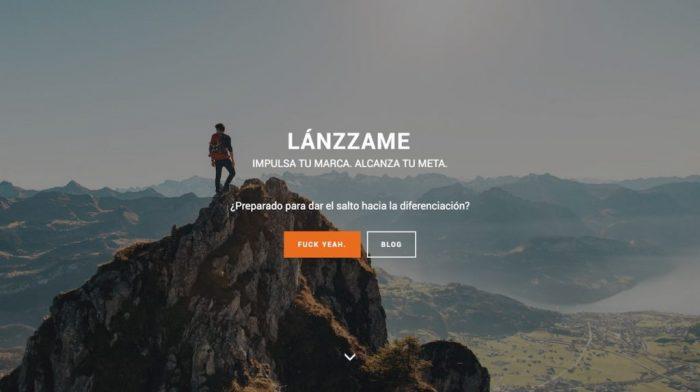Imagen de la web provisional de Lanzzame
