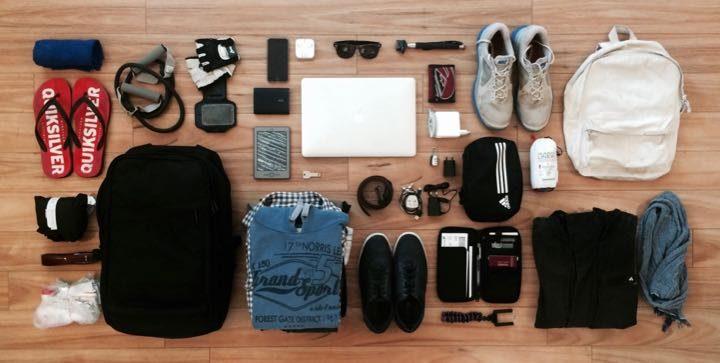 Minimalismo en una imagen: Mi equipaje durante 9 meses de viaje.