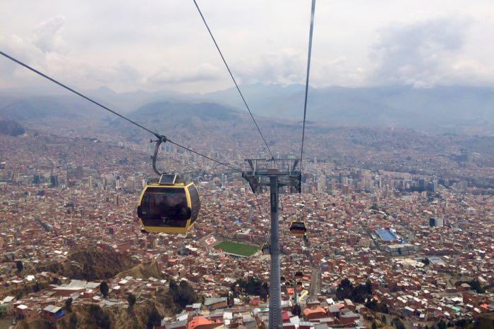 teleferico-la-Vistas de La Paz desde el teleférico en mi viaje a Perú